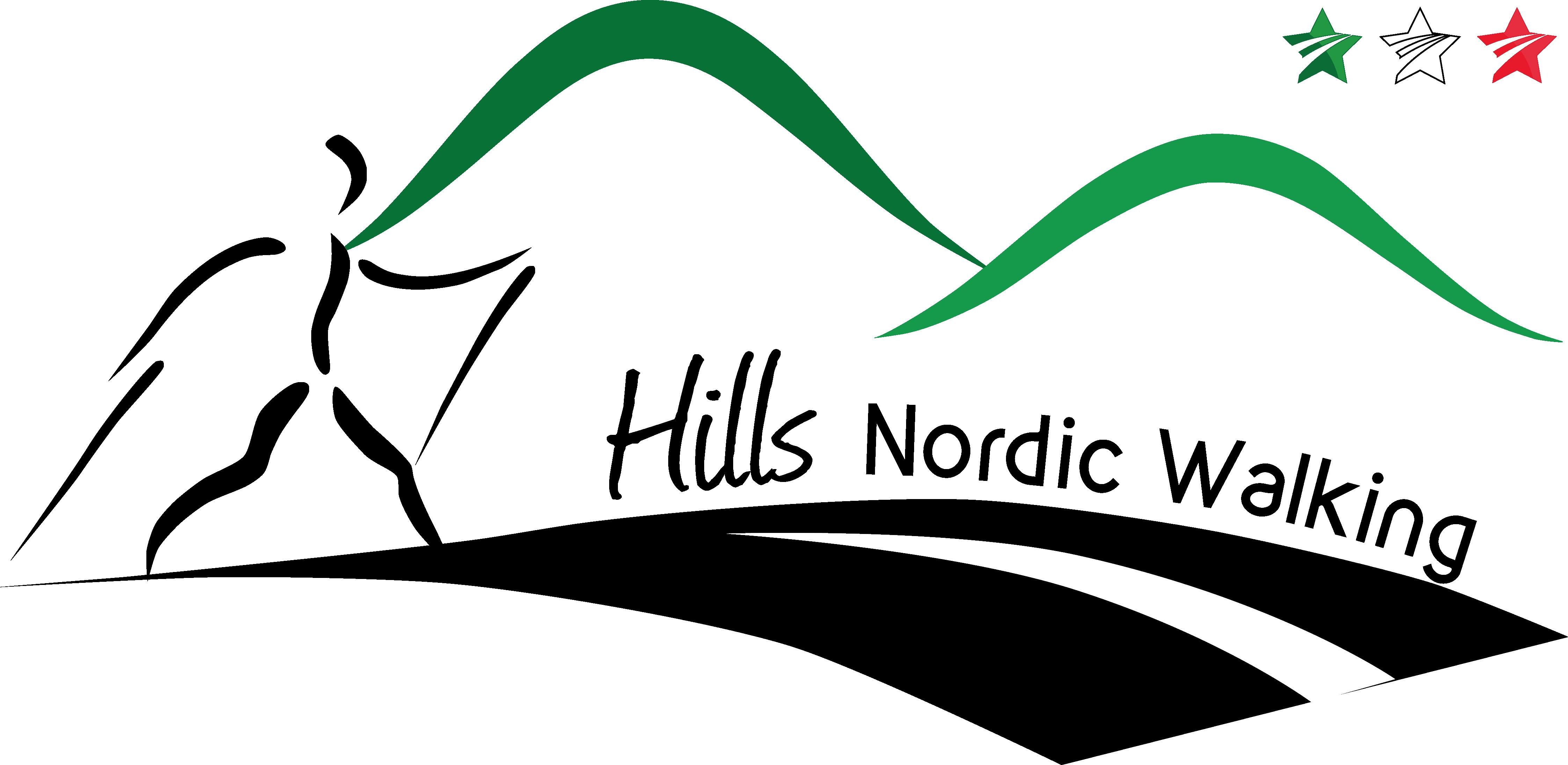 logo hills nordic walking