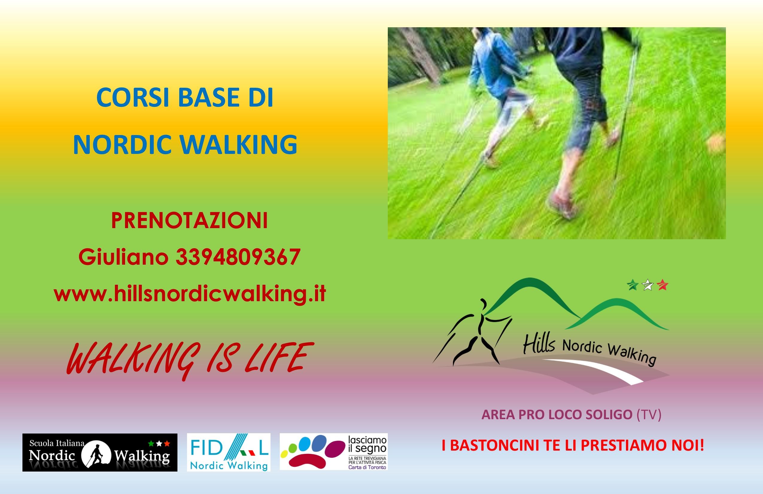 nordic walking area soligo