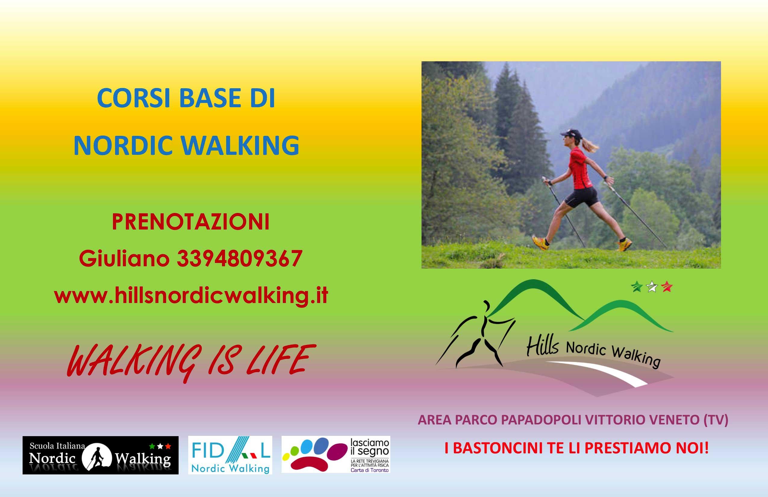locandina corso base nordic walking
